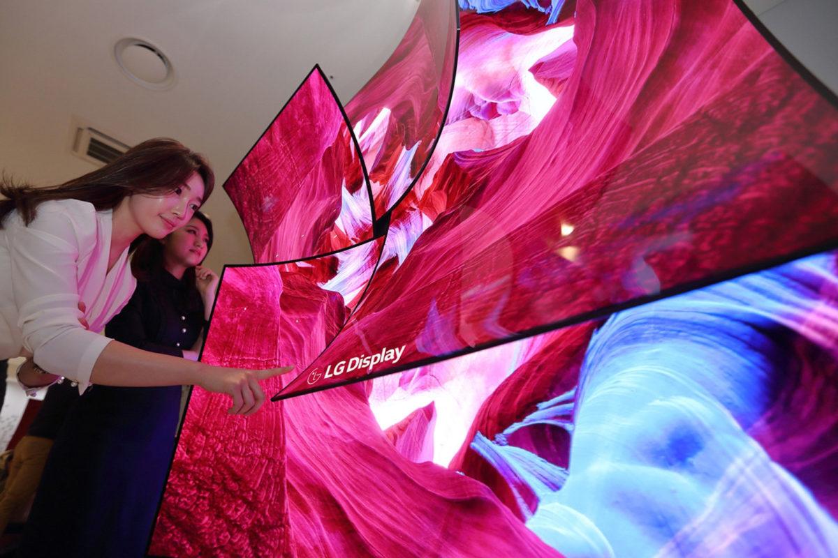 LG -дюймовый дисплей OLED 8K