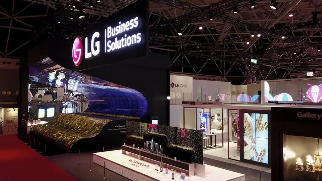 Передовые информационные дисплеи LG на выставке ISE 2019